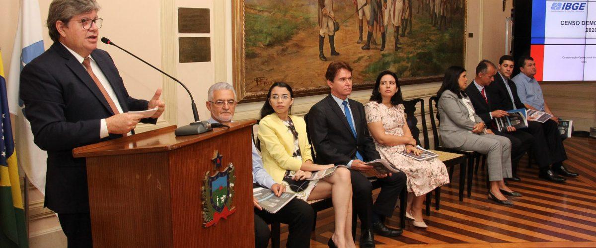 Censo 2020: João Azevêdo destaca importância da pesquisa para definição de investimentos