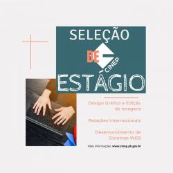 Cinep realiza Processo Seletivo de Estágio com vagas Design Gráfico e Edição de Imagens, Relações Internacionais e Desenvolvimento de Sistemas WEB