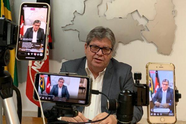 João Azevêdo anuncia ações econômicas e sociais com impacto de R$ 145,5 milhões durante pandemia do coronavírus