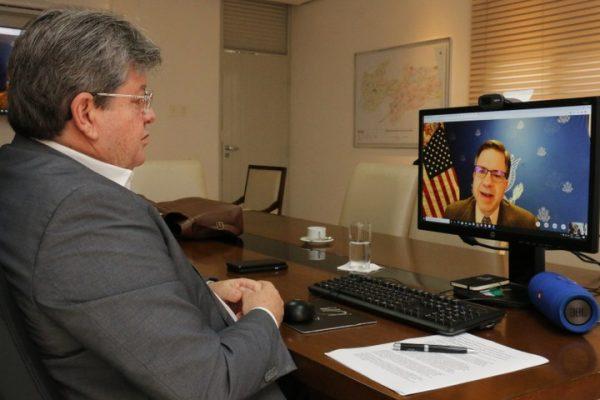 João Azevêdo se reúne com embaixador dos Estados Unidos e apresenta potencialidades e oportunidades de investimentos na Paraíba